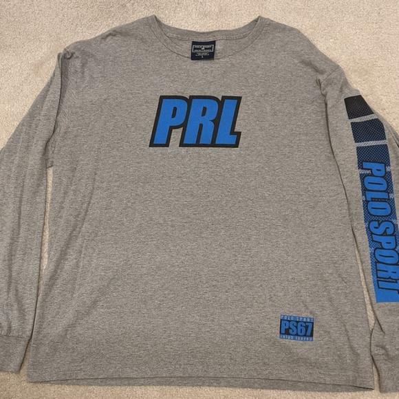 Polo Sport Ralph Lauren Black Long Sleeve Crew Baselayer Shirt Men/'s NWT